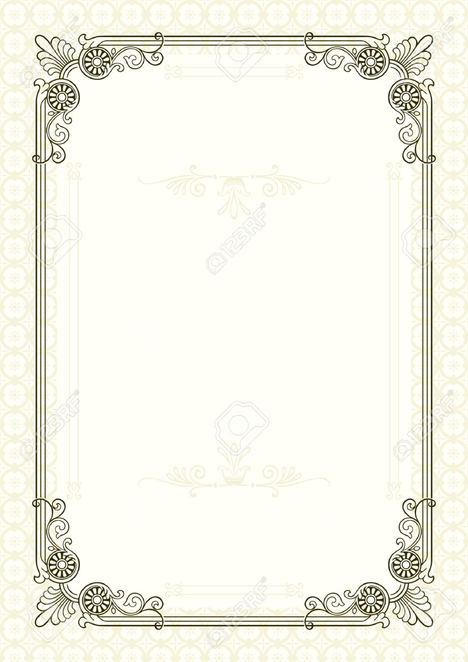 Form For Diploma Or Certificate Royalty Free Cliparts, Vectors ...