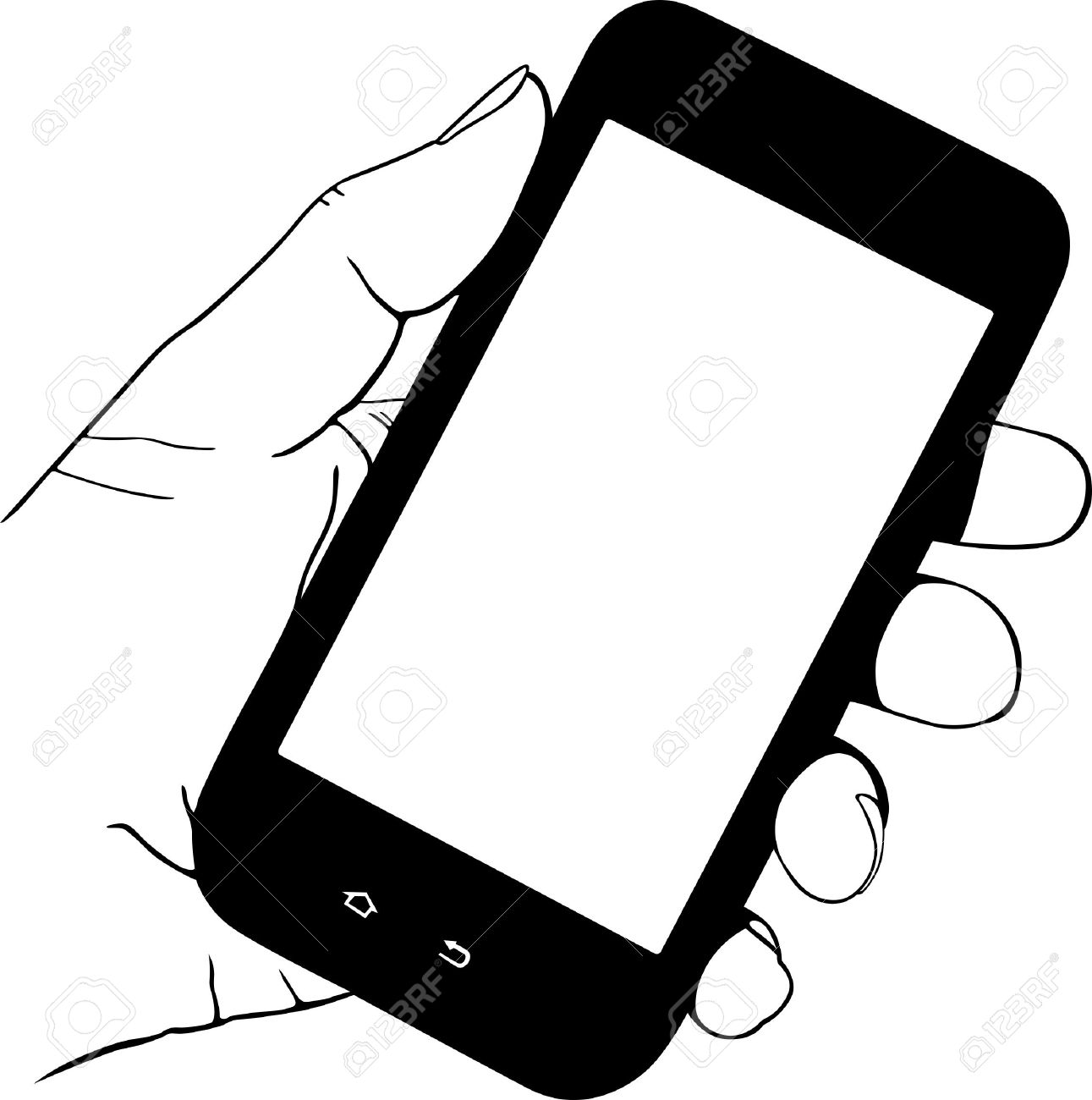 9,097 Cell Phone Hand Stock Vector Illustration And Royalty Free ...