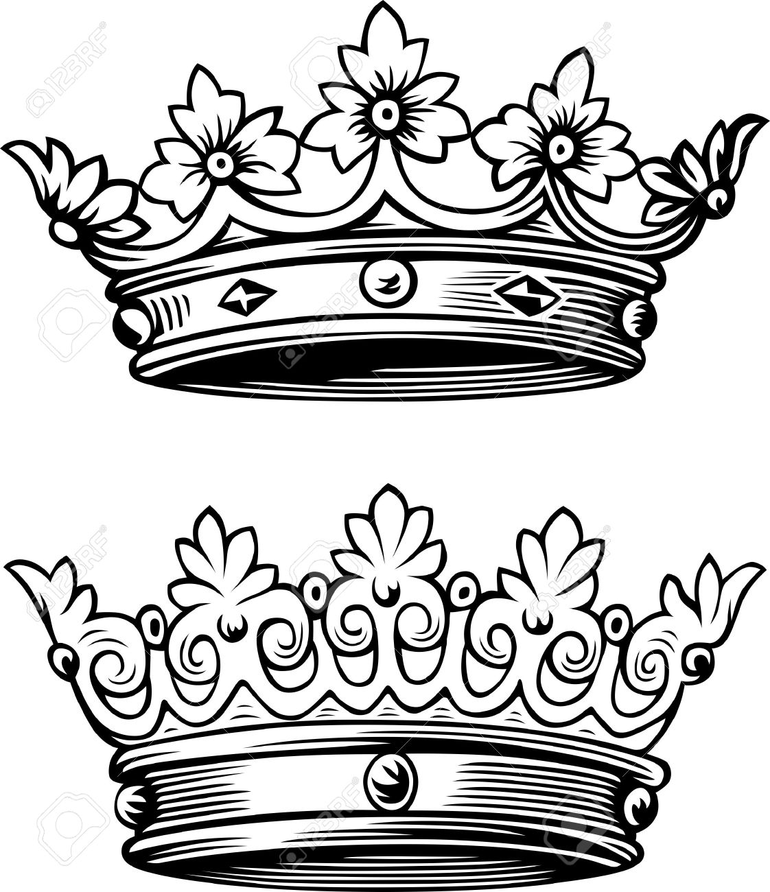 Two Beautiful Crowns Stock Vector  15884260