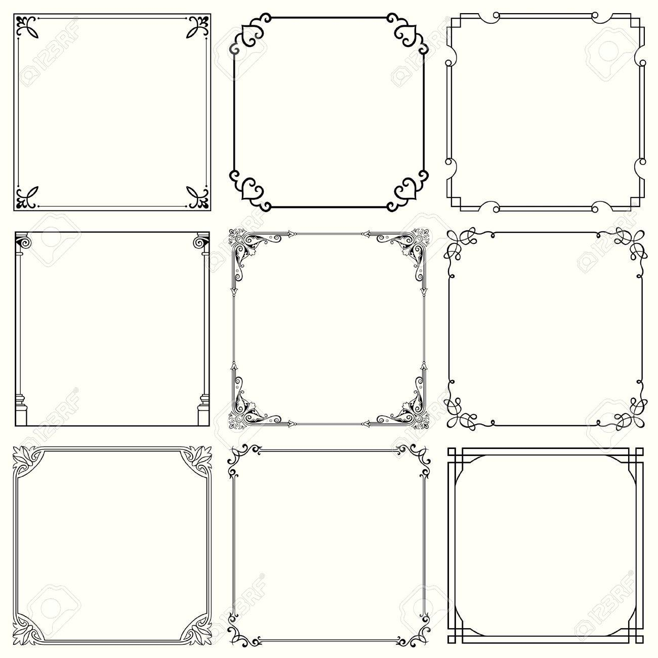 Decorative Frames Set 32 Royalty Free Cliparts, Vectors, And Stock ...