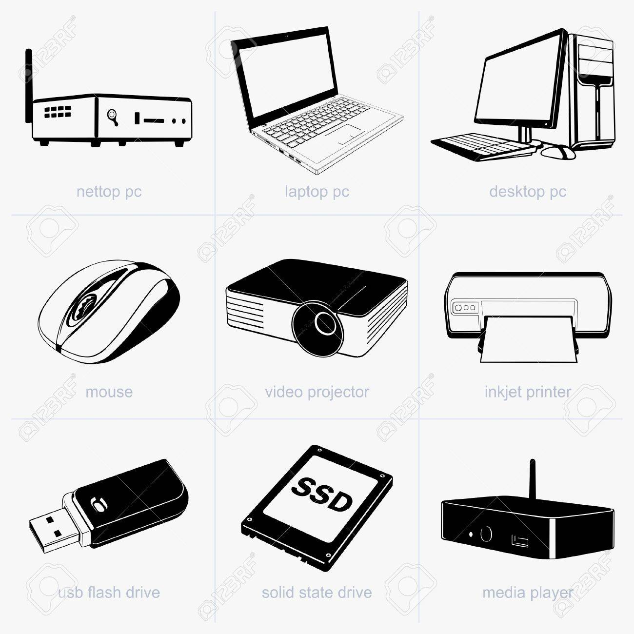 Computer devices Stock Vector - 17560675