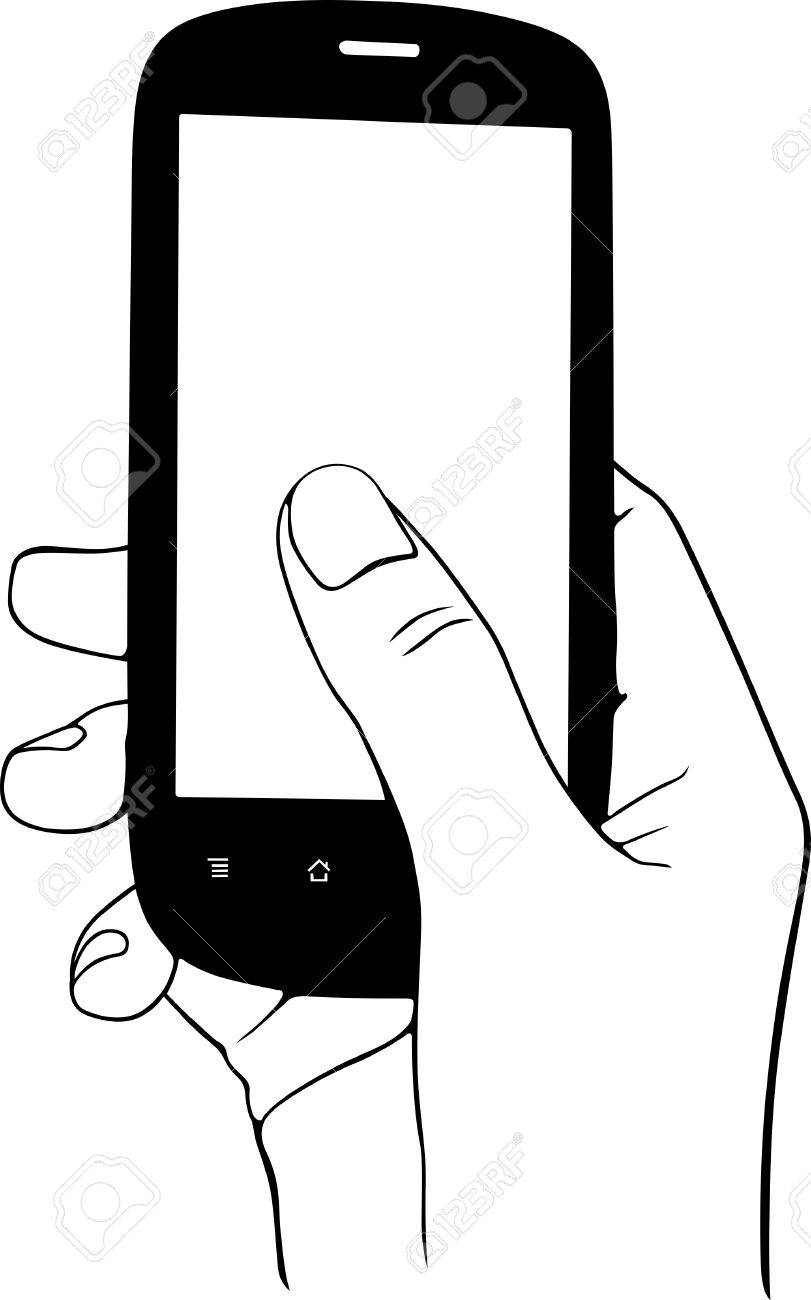 Mobile phone in the hand Stock Vector - 16779920