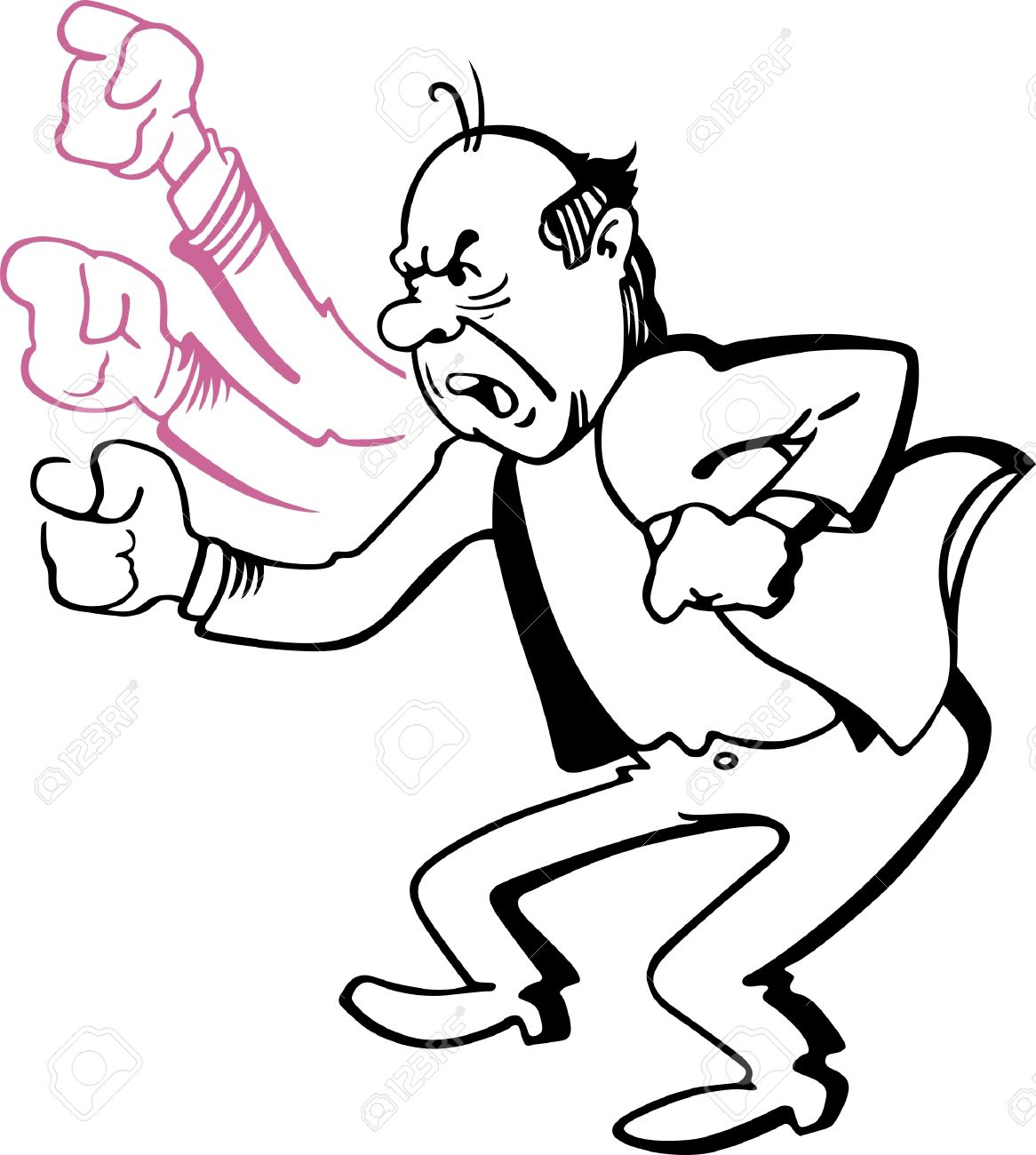 Angry Man Shaking His Fist Royalty Free Cliparts, Vectors, And ...