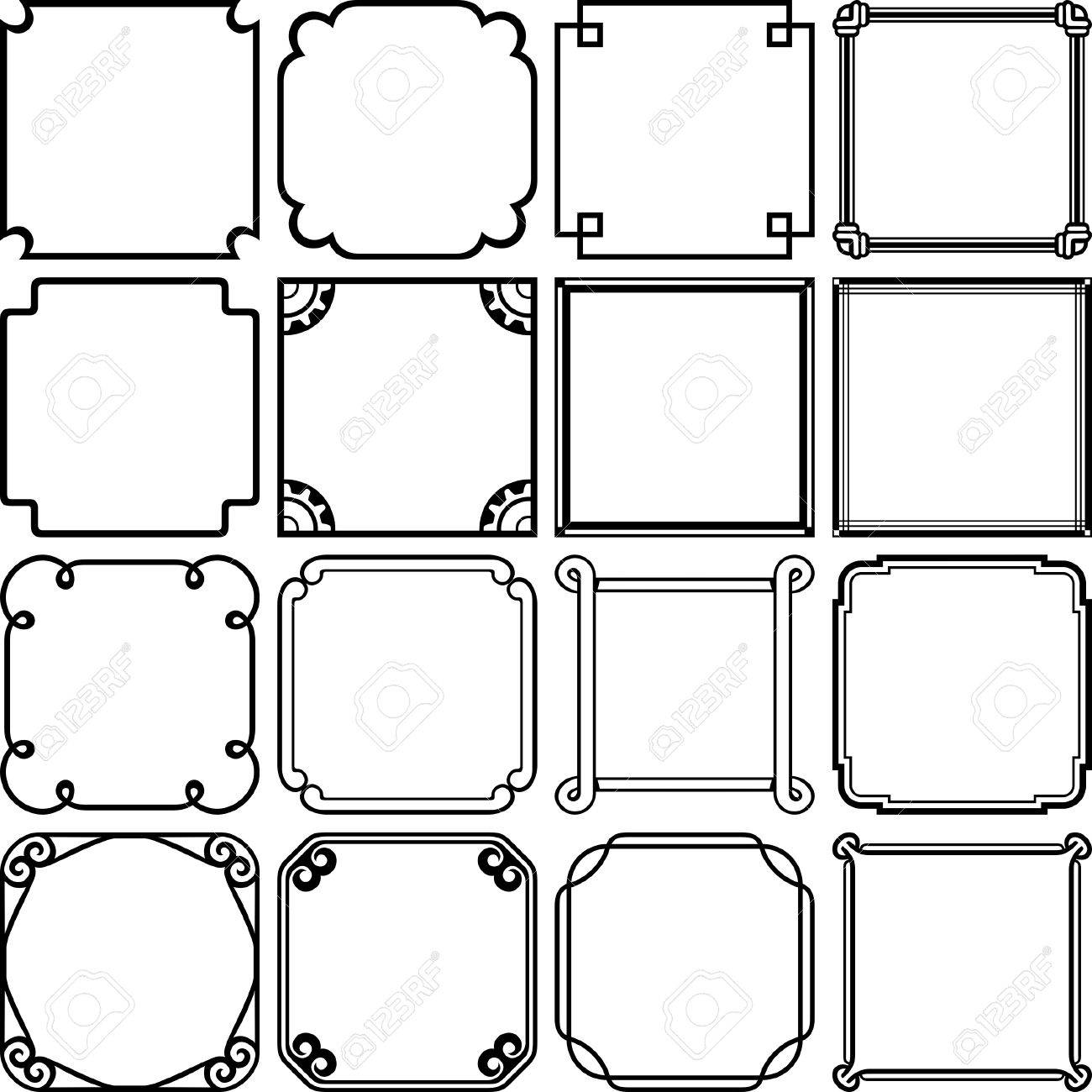 Decorative Simple Frames Royalty Free Cliparts, Vectors, And Stock ...