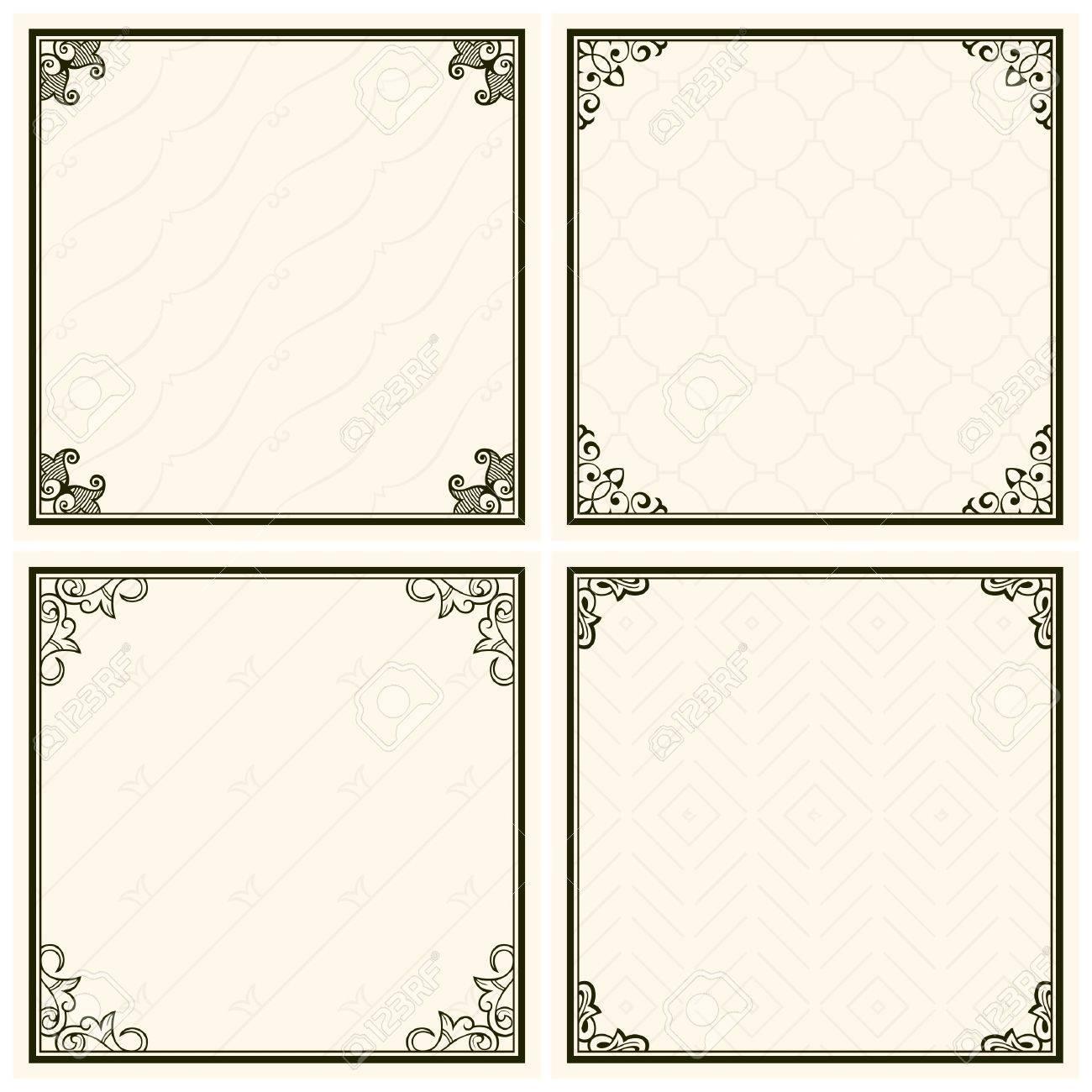 Decorative menu frames Stock Vector - 17396788