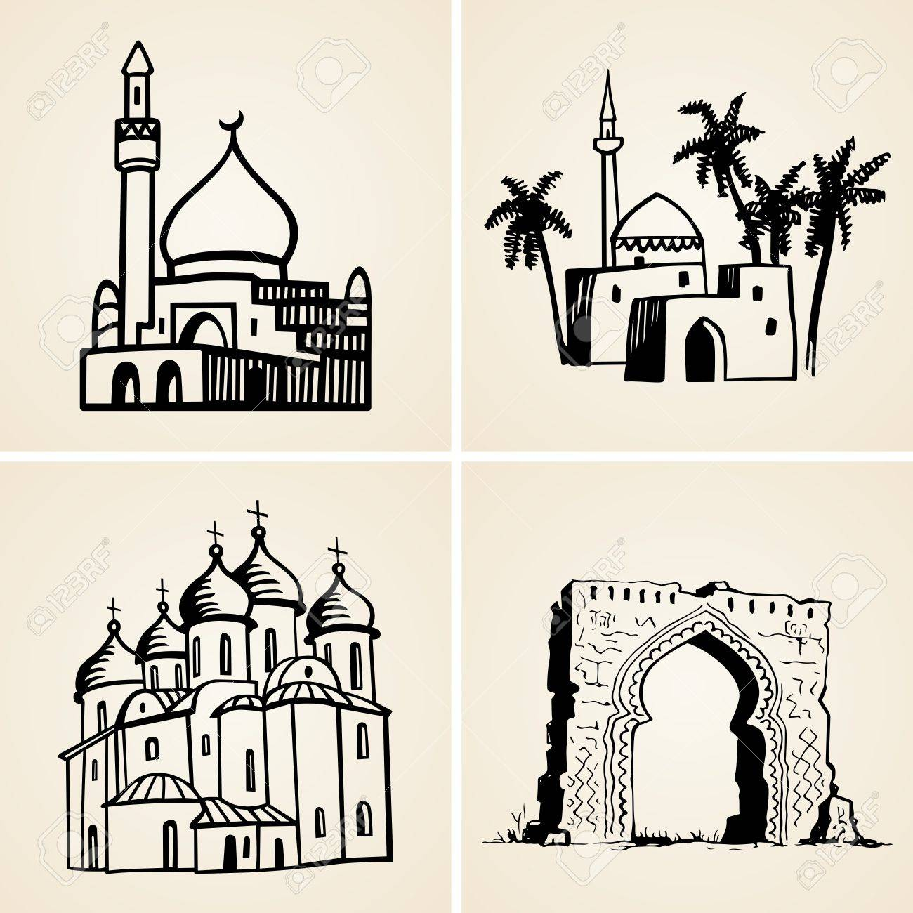 Old buildings Stock Vector - 17560685