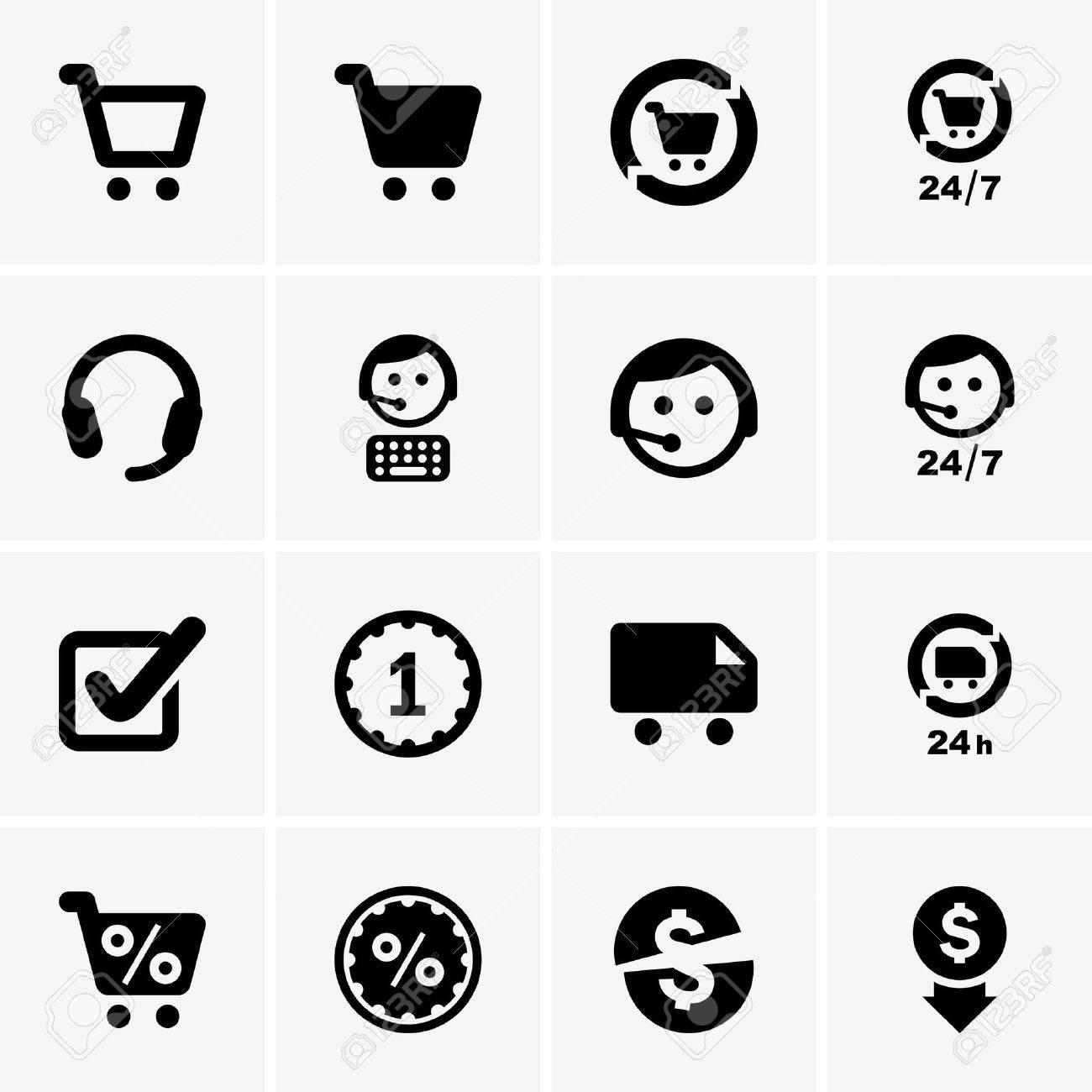Set of shopping icons - 19689140