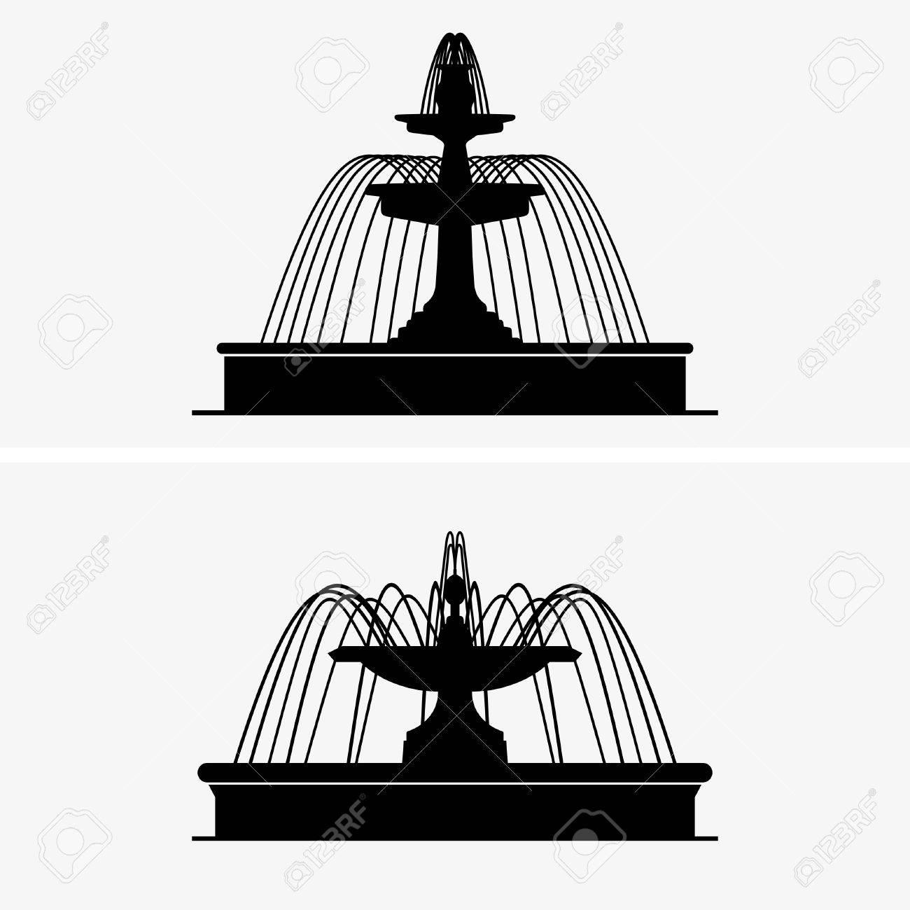 Fountains Stock Vector - 24897963