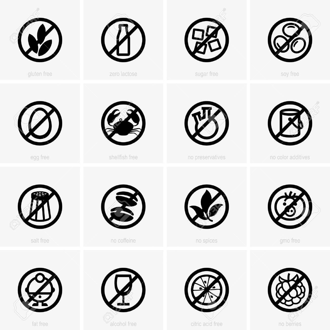 Allergen free icons - 33135934