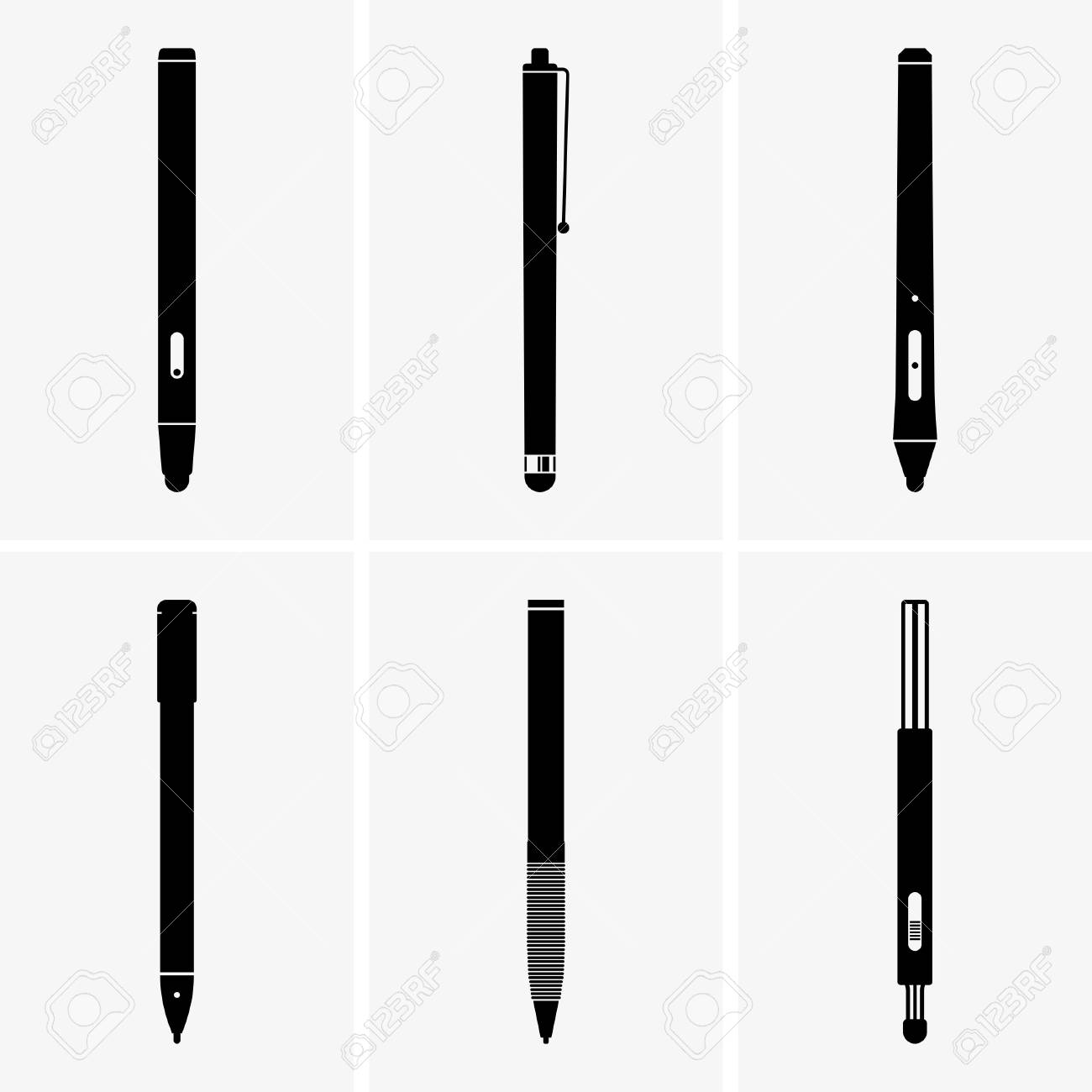 stylus pens royalty free cliparts vectors and stock illustration