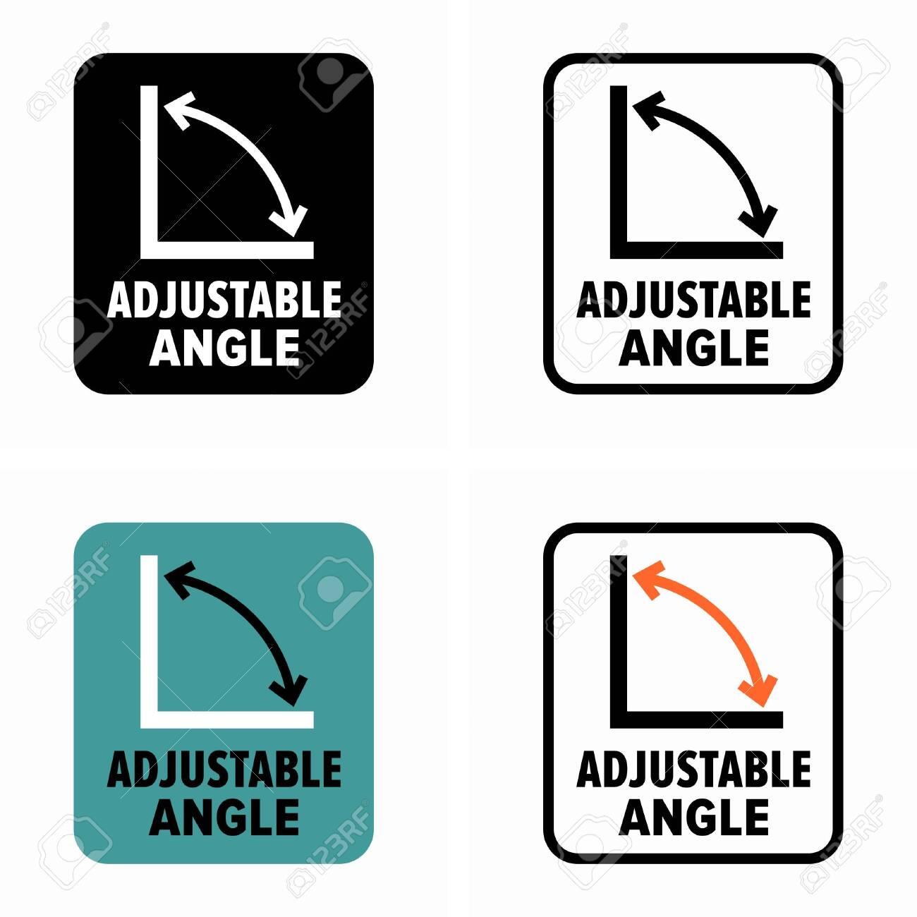 Adjustable angle recline information sign - 141547371