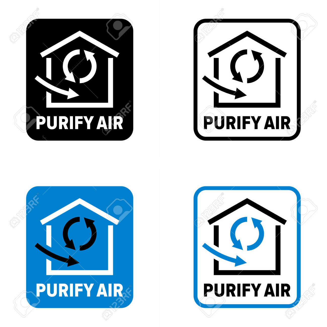 """""""Purify air"""" method and system information sign - 162212167"""