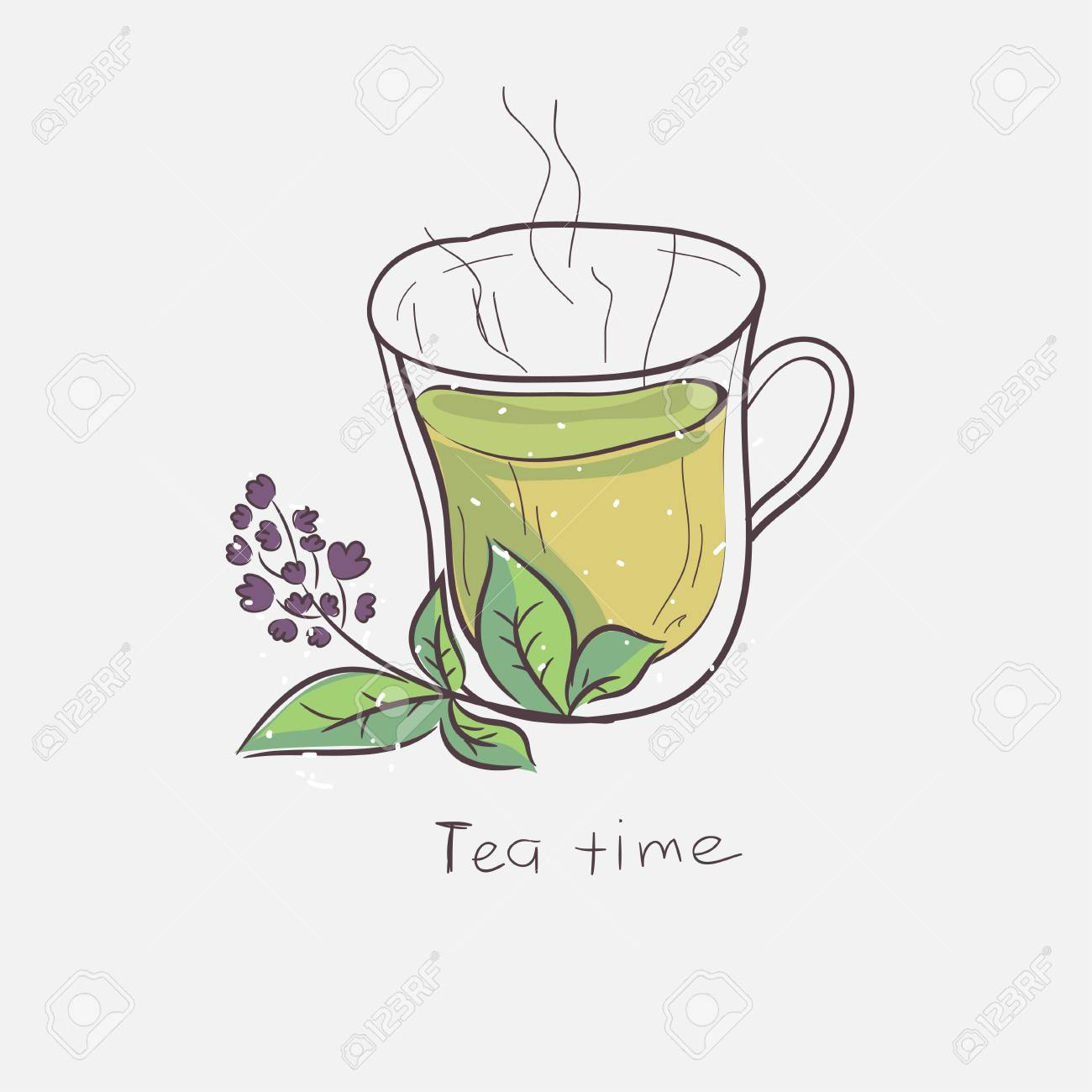 cute cartoon cup of green tea vector illustration isolated on royalty free cliparts vectors and stock illustration image 95979535 cute cartoon cup of green tea vector illustration isolated on