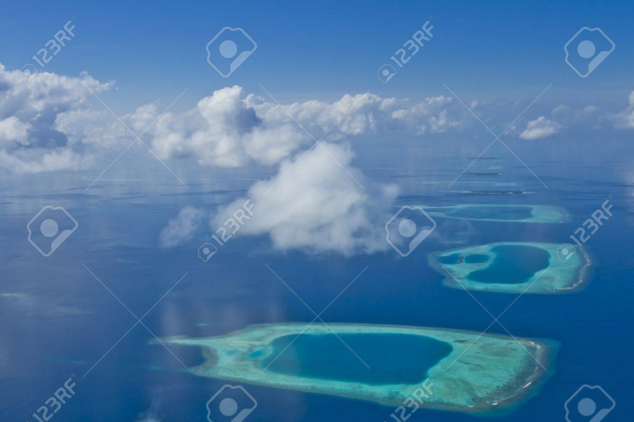 Coral reef atolls in Maldives Stock Photo - 11695049