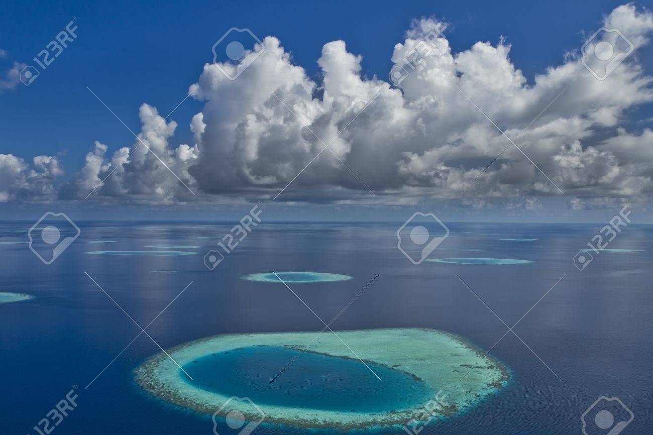 Coral reef atolls in Maldives Stock Photo - 11695061