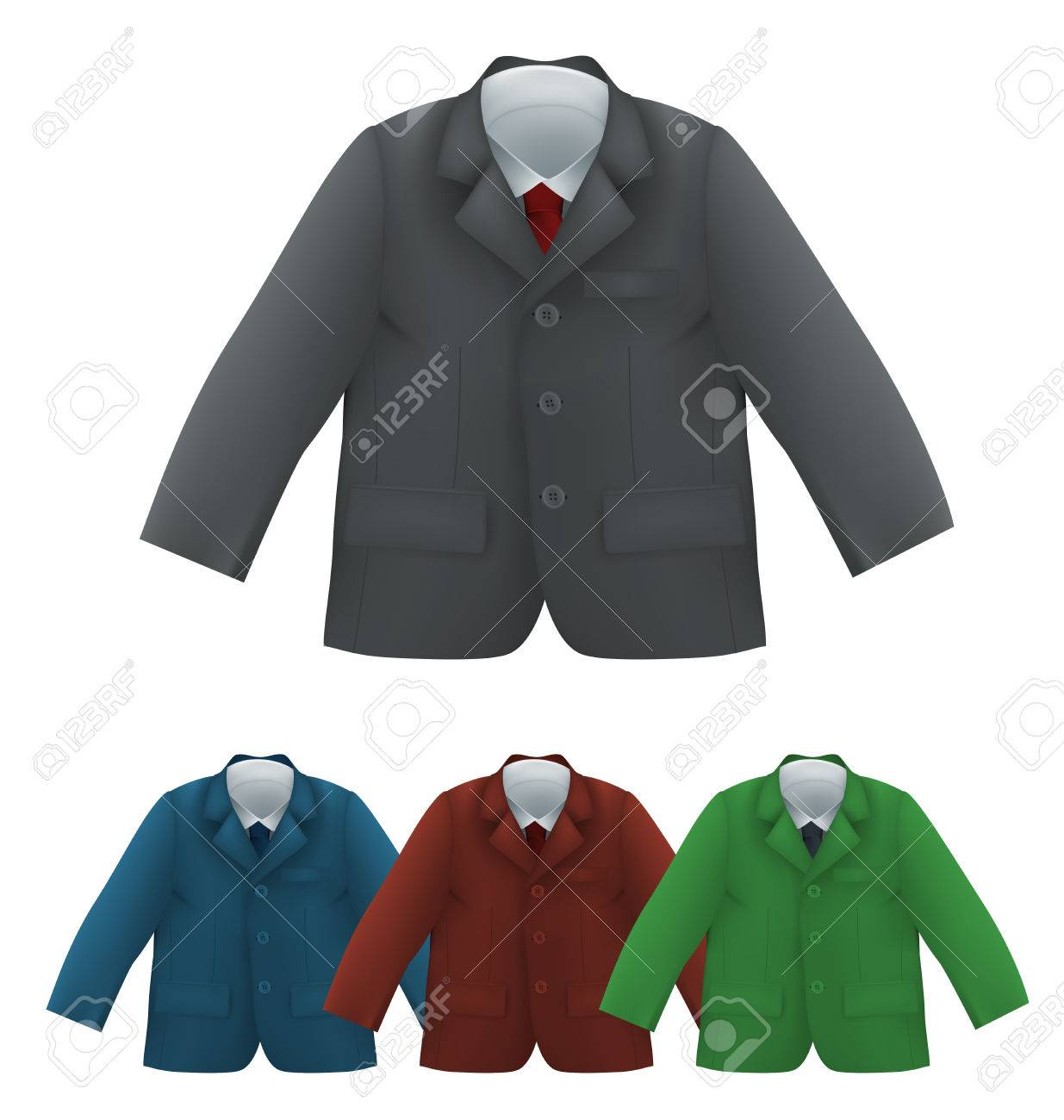 Kids jacket shirt and tie blank template isolated on white royalty kids jacket shirt and tie blank template isolated on white stock vector 80270843 maxwellsz