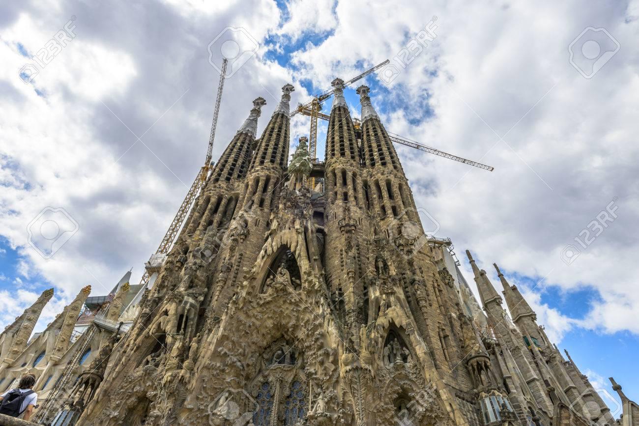 efab5ea95b Sagrada Familia by Antoni Gaudi in Barcelona Spain Stock Photo - 33076035