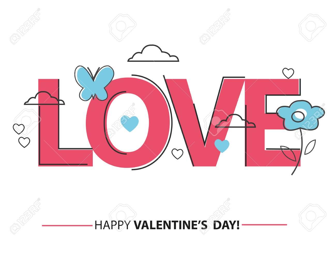 Cartão De Valentim Com Coração De Linha E Tudo Que Você Precisa é Frase De Amor