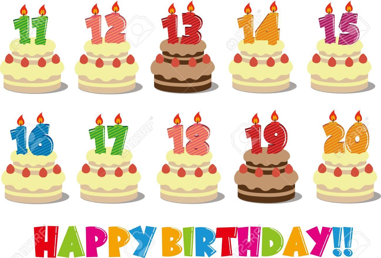 誕生日ケーキ イラスト 11 のイラスト素材 ベクタ Image