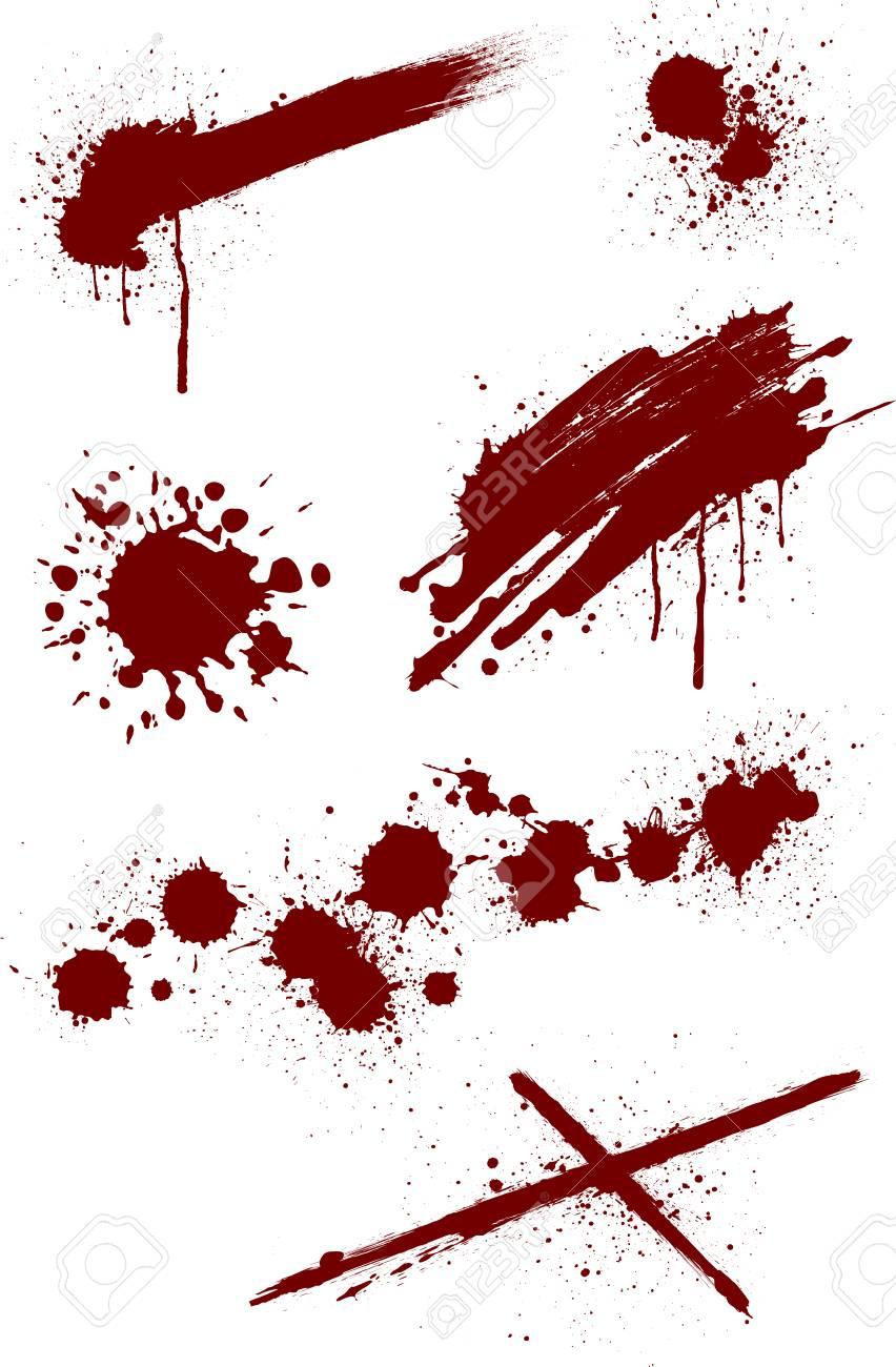 Blood splashing pattern on white background, vector illustration. - 90839435