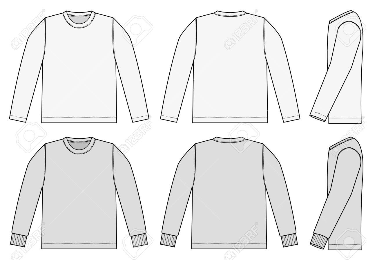 Set of long sleeve shirts icon. - 91384852