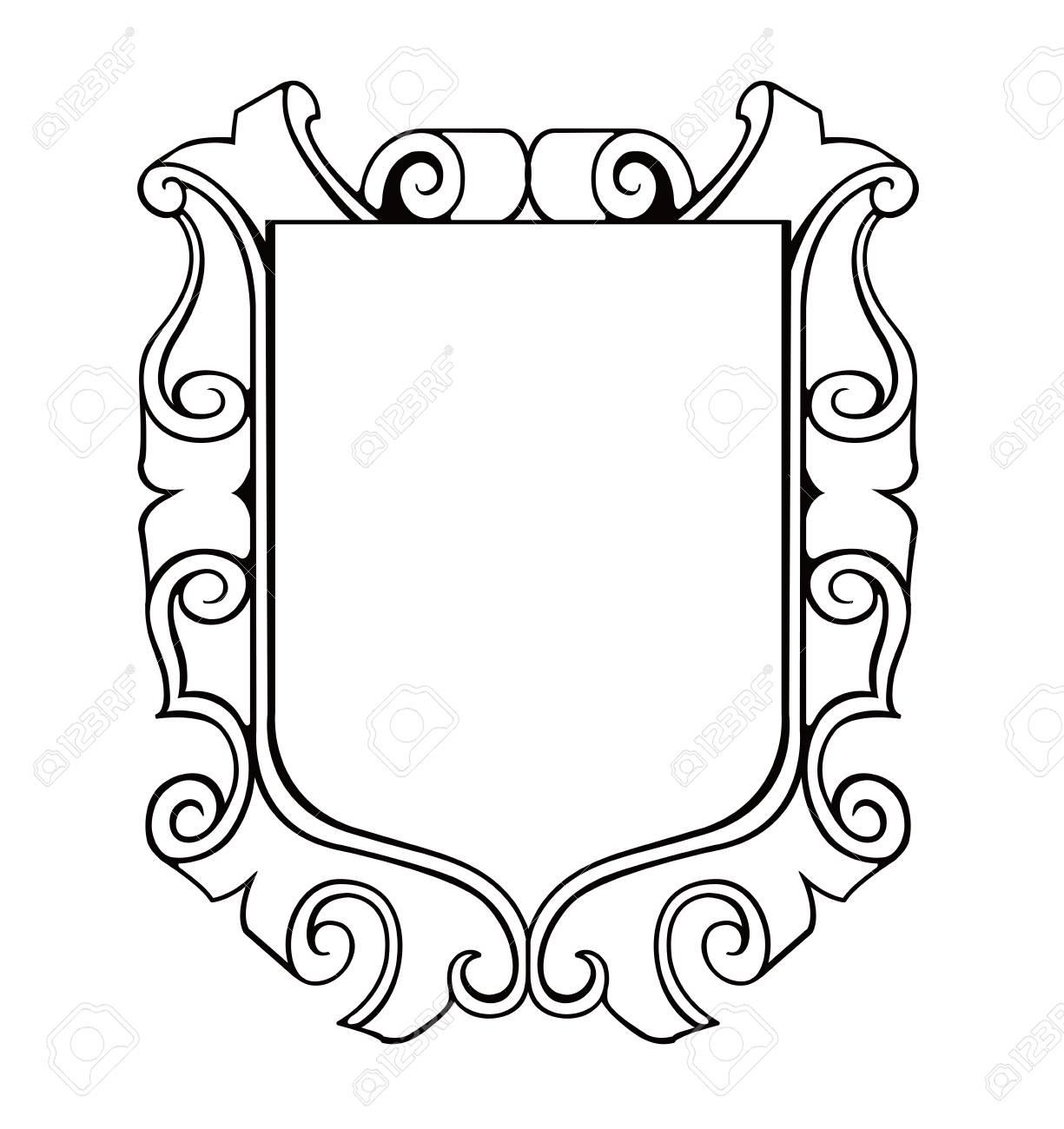 shield emblem ilustration - 91340134