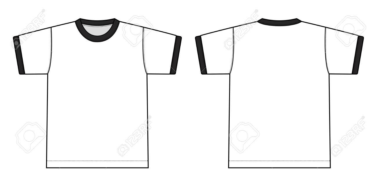 リンガー T シャツ イラスト 白 黒のイラスト素材ベクタ Image