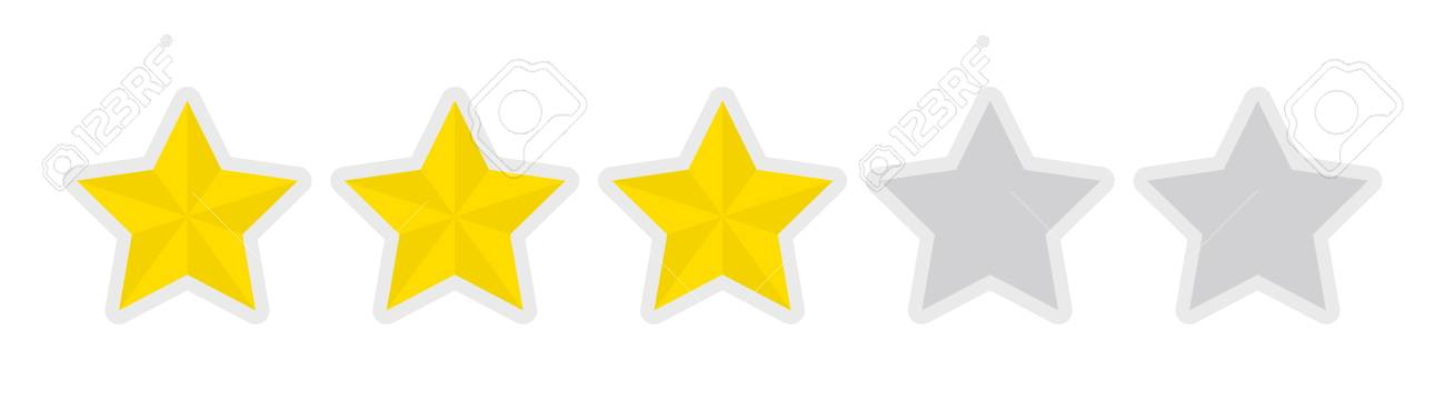 Five-star Rating Icon (3) Royalty Free Cliparts, Vectors, And Stock  Illustration. Image 91718901.