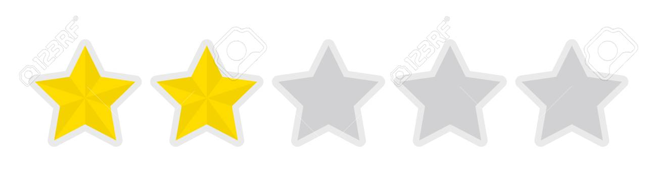 Five-star Rating Icon (2) Royalty Free Cliparts, Vectors, And ...