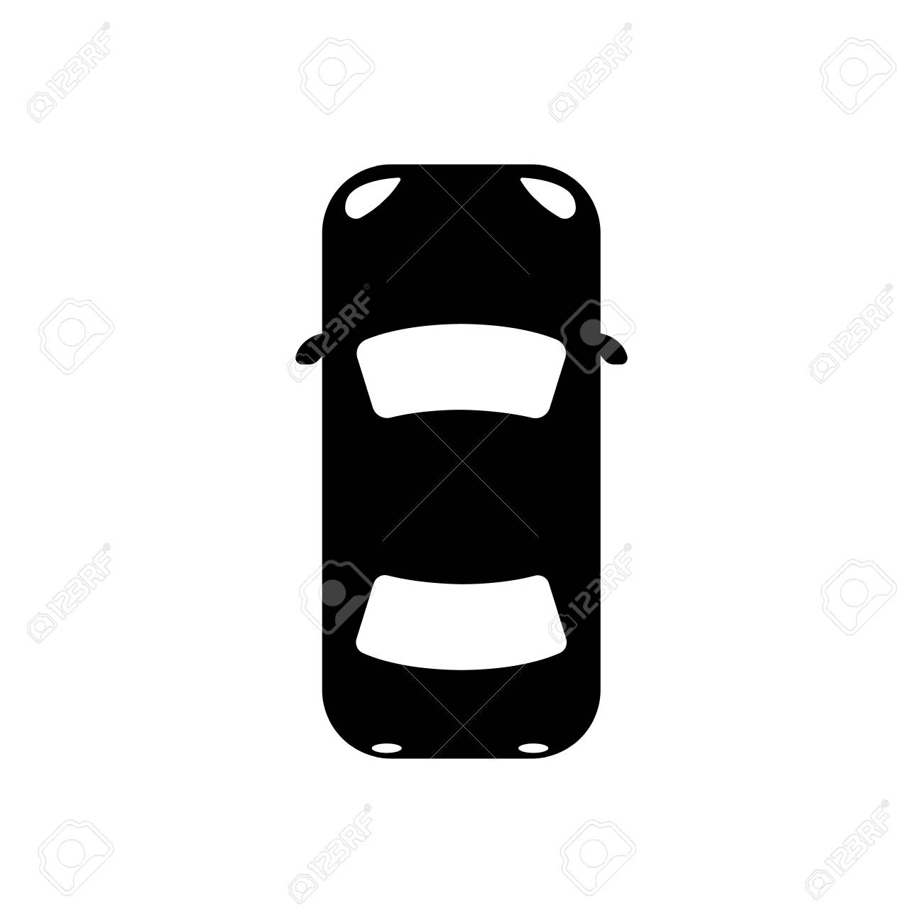 Icon Car View From Above Royalty Free Cliparts Vectors And Stock