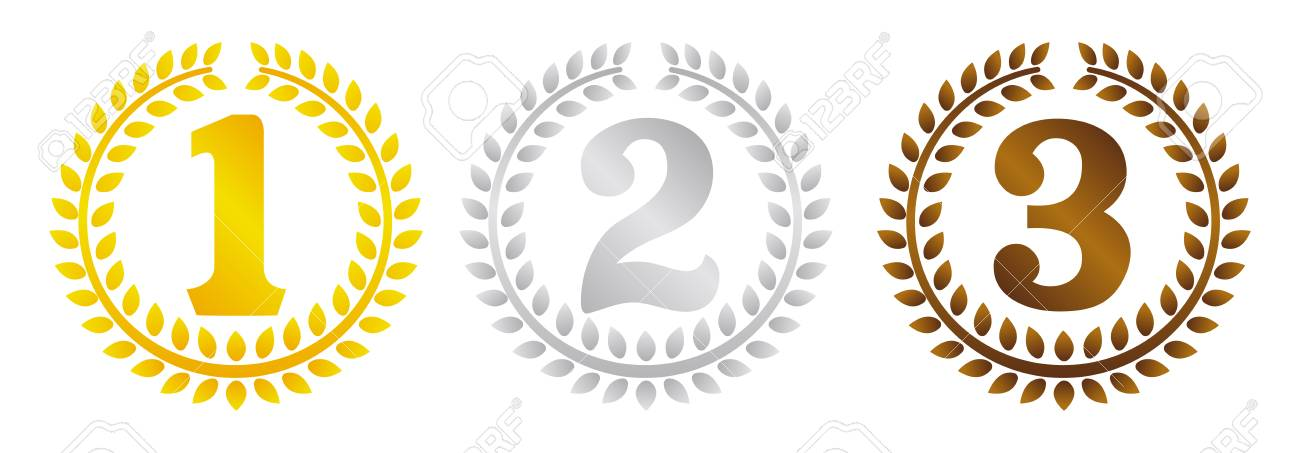 イラスト ランキング花輪フレームを設定します 3 位に 1 位は のイラスト素材 ベクタ Image