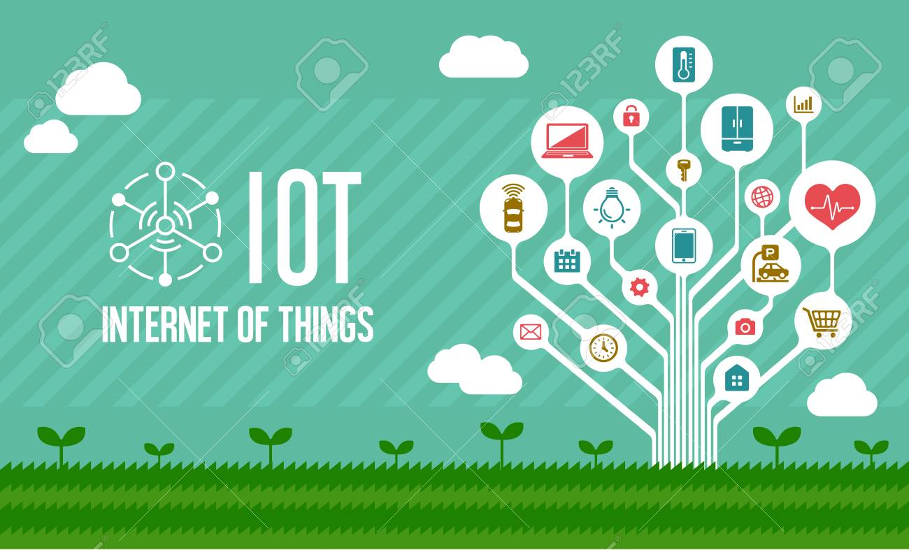 IoT (internet of things) illustration image (tree) - 94177903