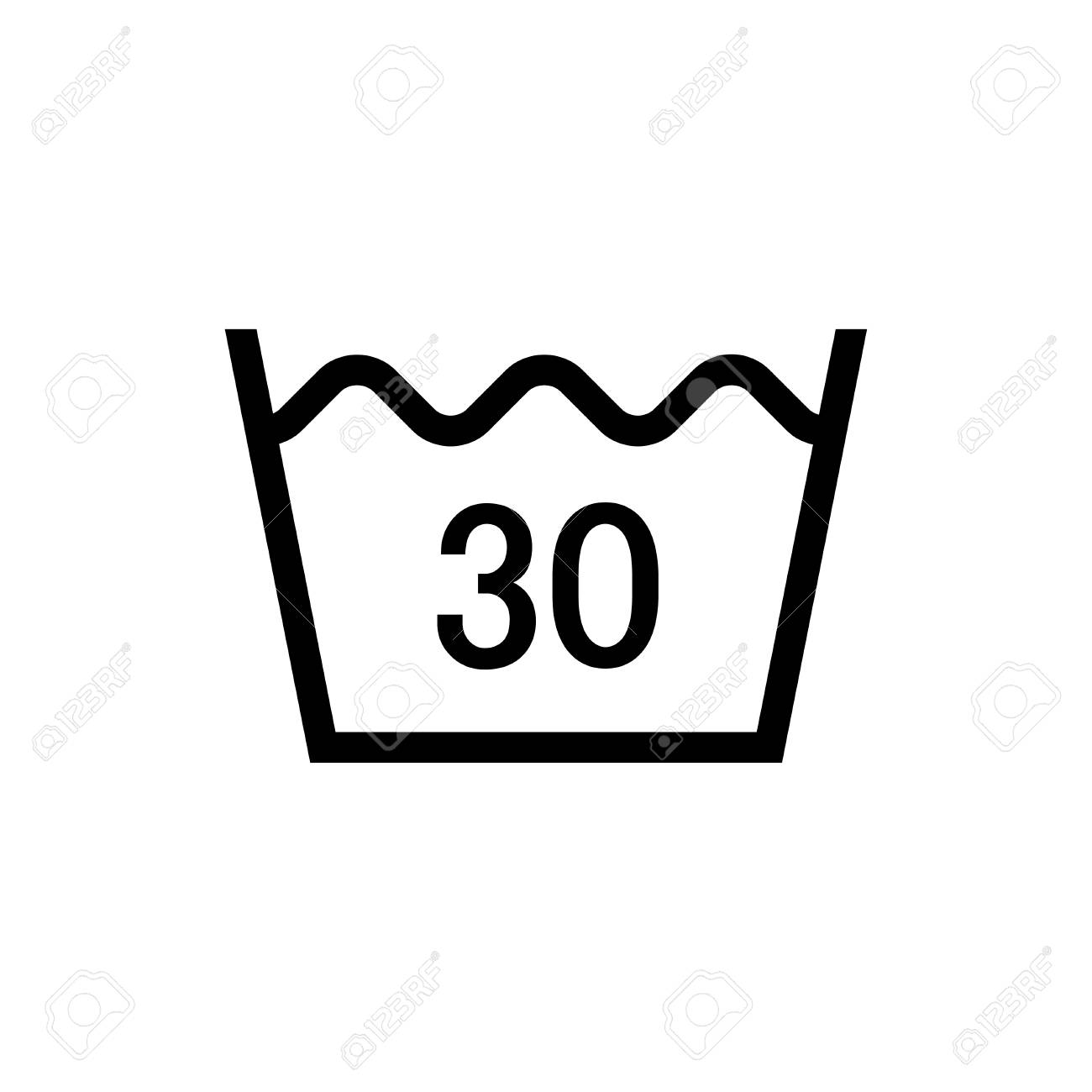 Laundry Symbol Icon Machine Wash Cold Royalty Free Cliparts