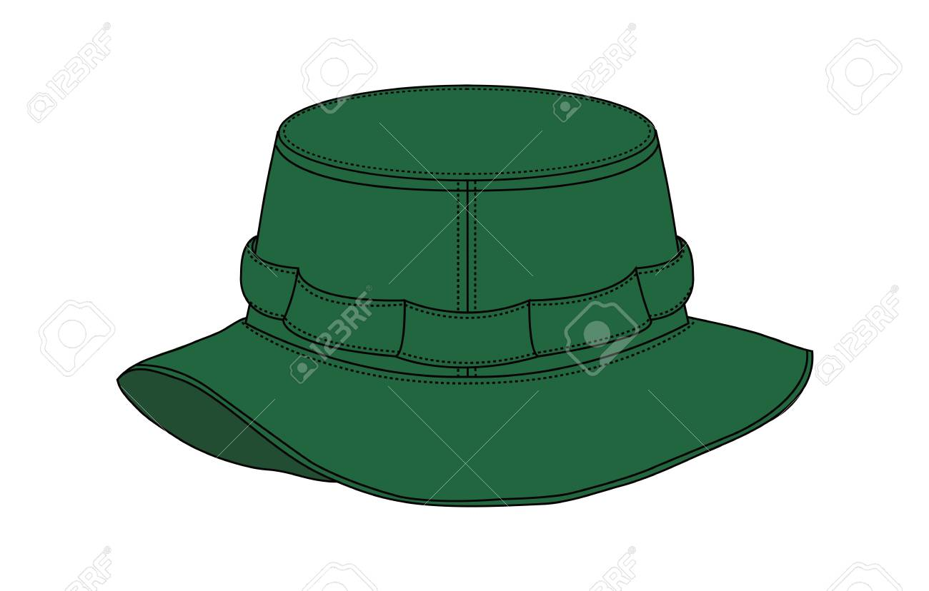 c5b134205b6d9 Illustration of Safari Hat (green) Stock Vector - 99296042