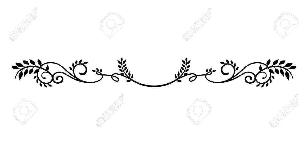 decorative vintage border illustration (natural plant) - 101581679