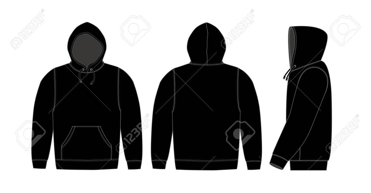 Illustration of hoodie (hooded sweatshirt) / black - 114765599