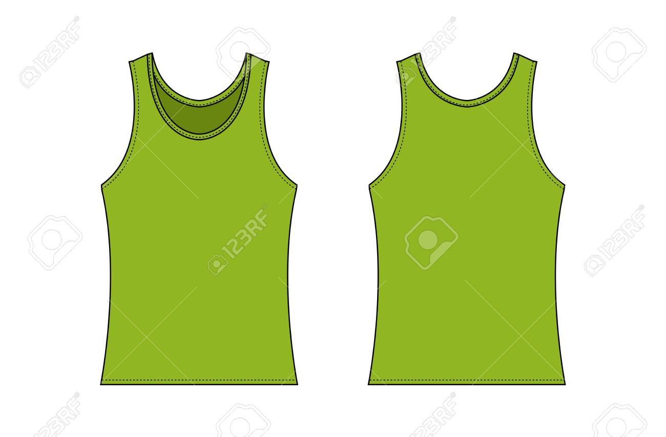Women S Tank Top Template Illustration Green Royalty Free Cliparts