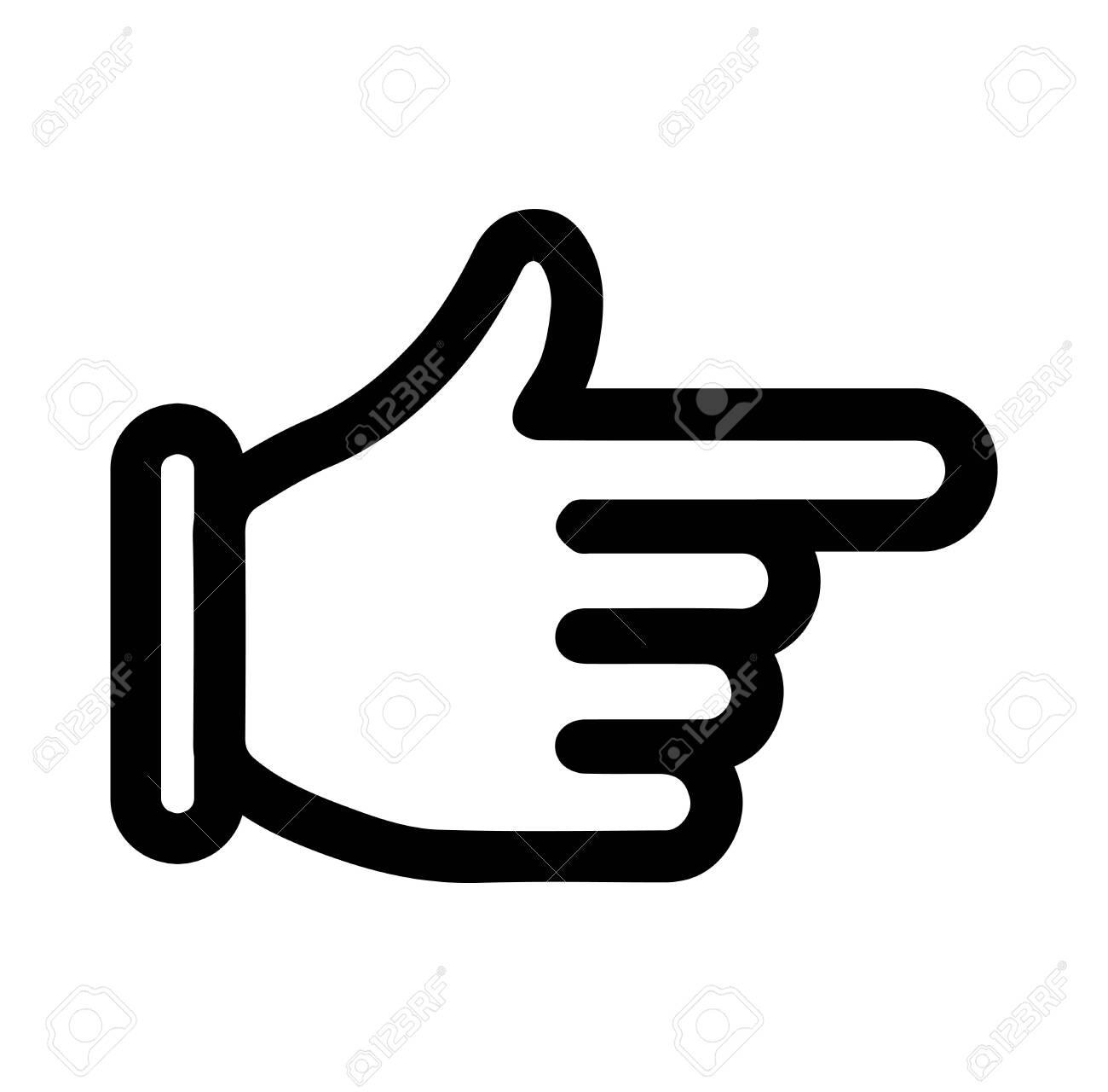 finger arrow icon - 119203074