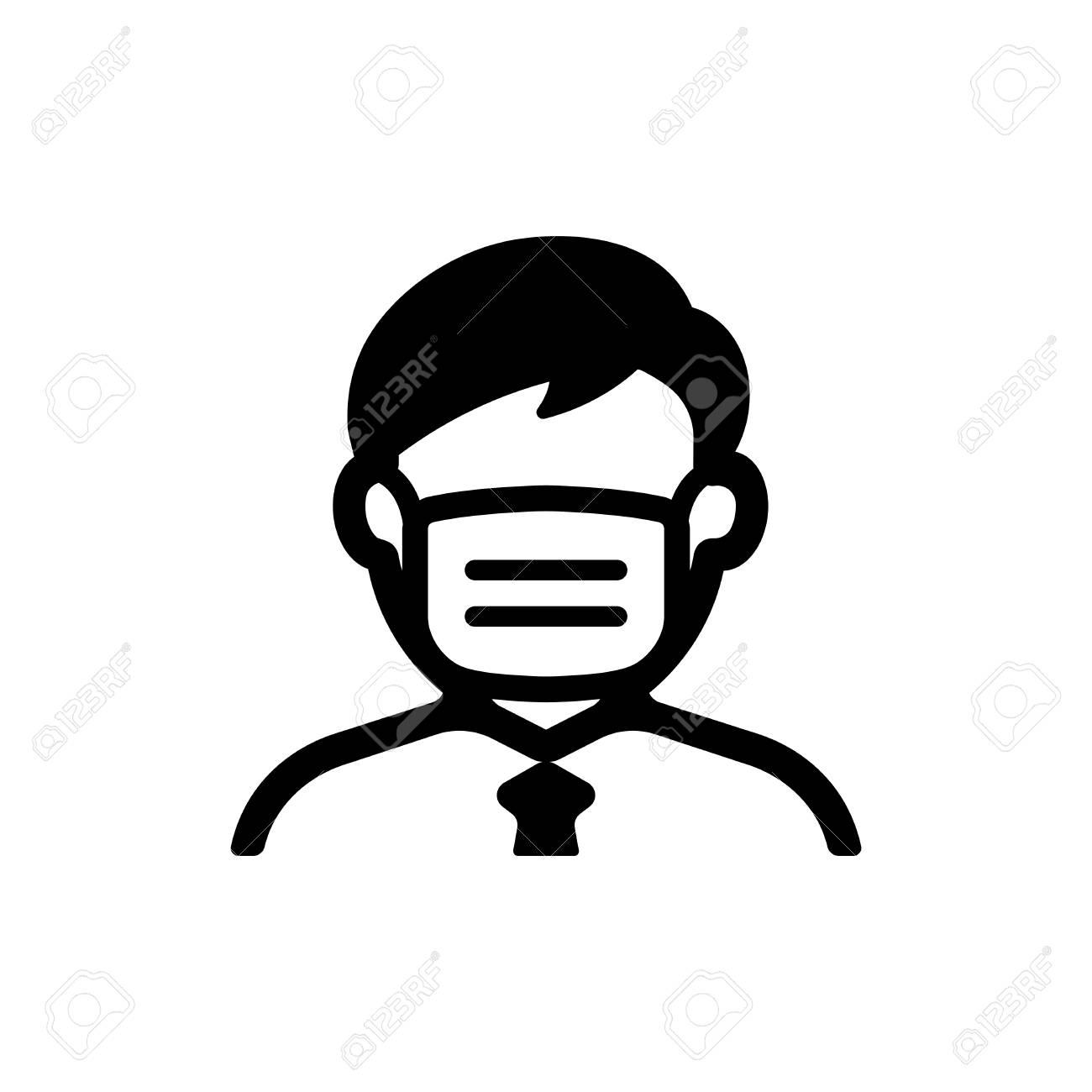 face mask, flu mask icon (man) - 119203229