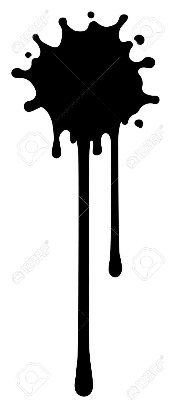 Paint splatter shape illustration - 168678838