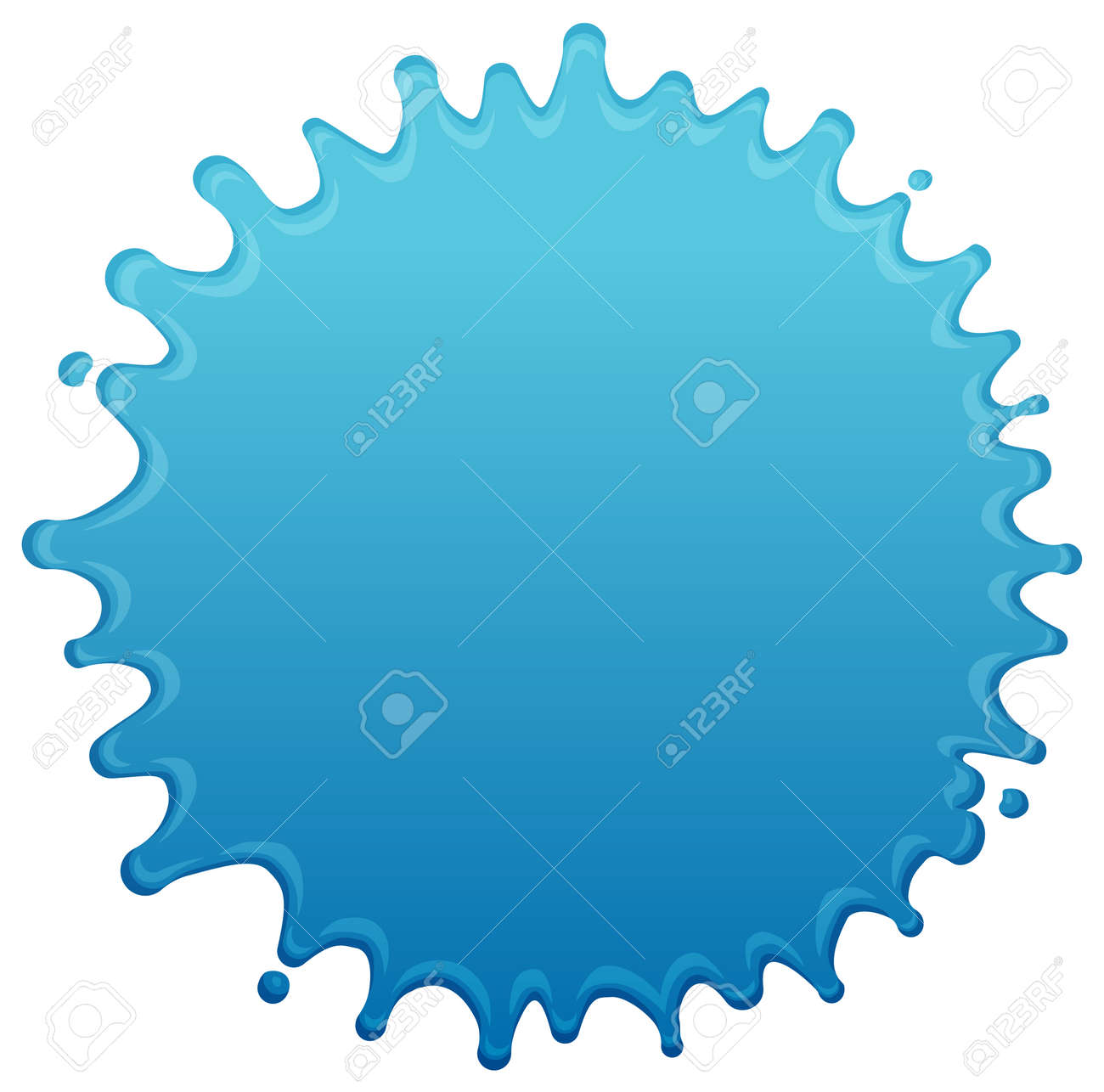 Blue water splash shape vector illustration - 168678839