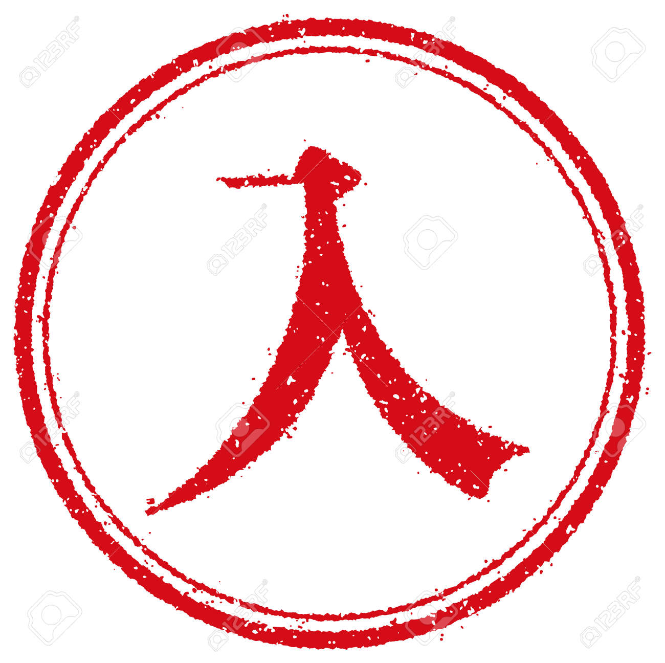 Rubber stamp illustration for Japanese business | entry, enter - 168732365