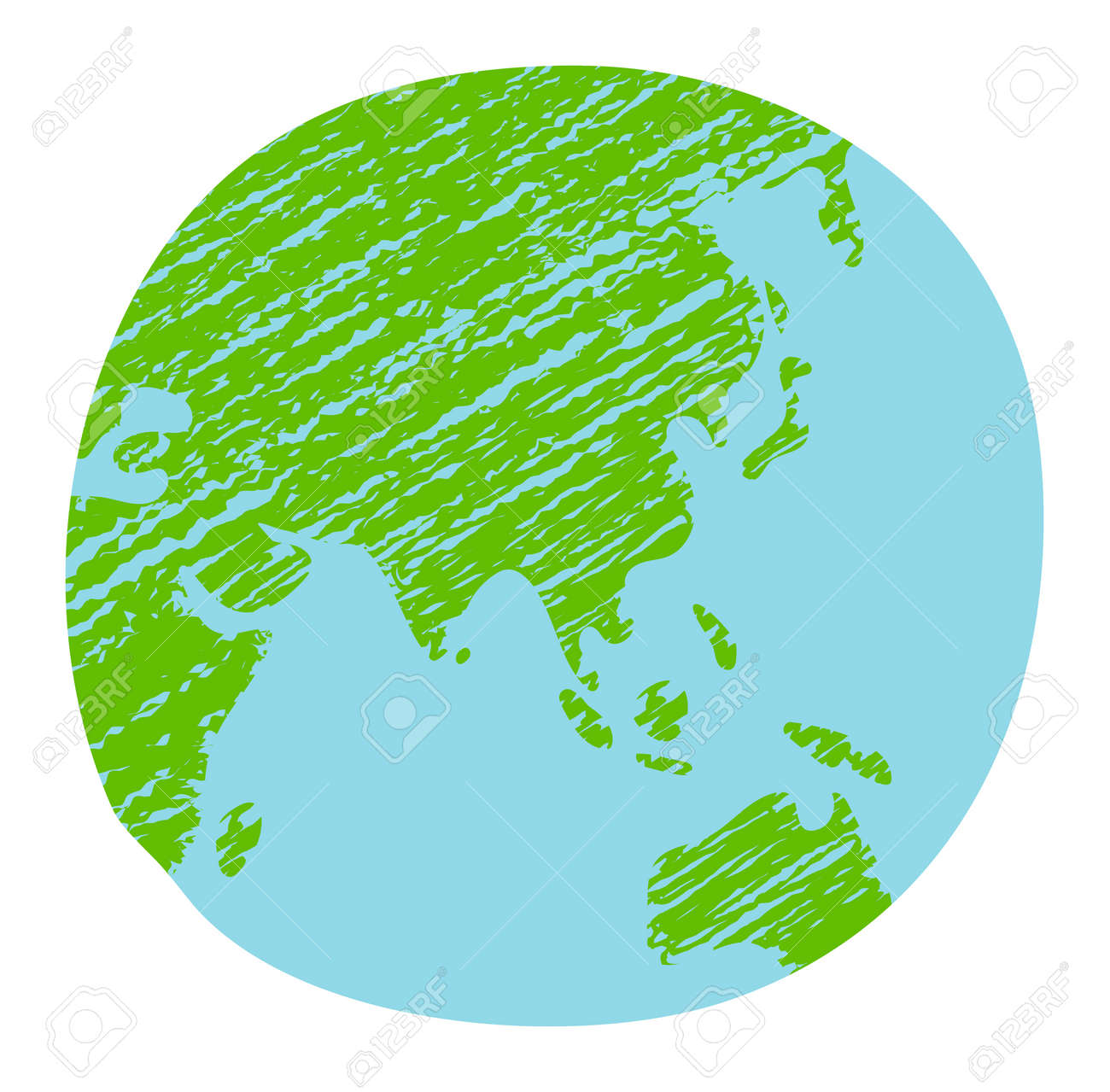 Chalked vector grunge earth (world map, globe) illustration - 169249621
