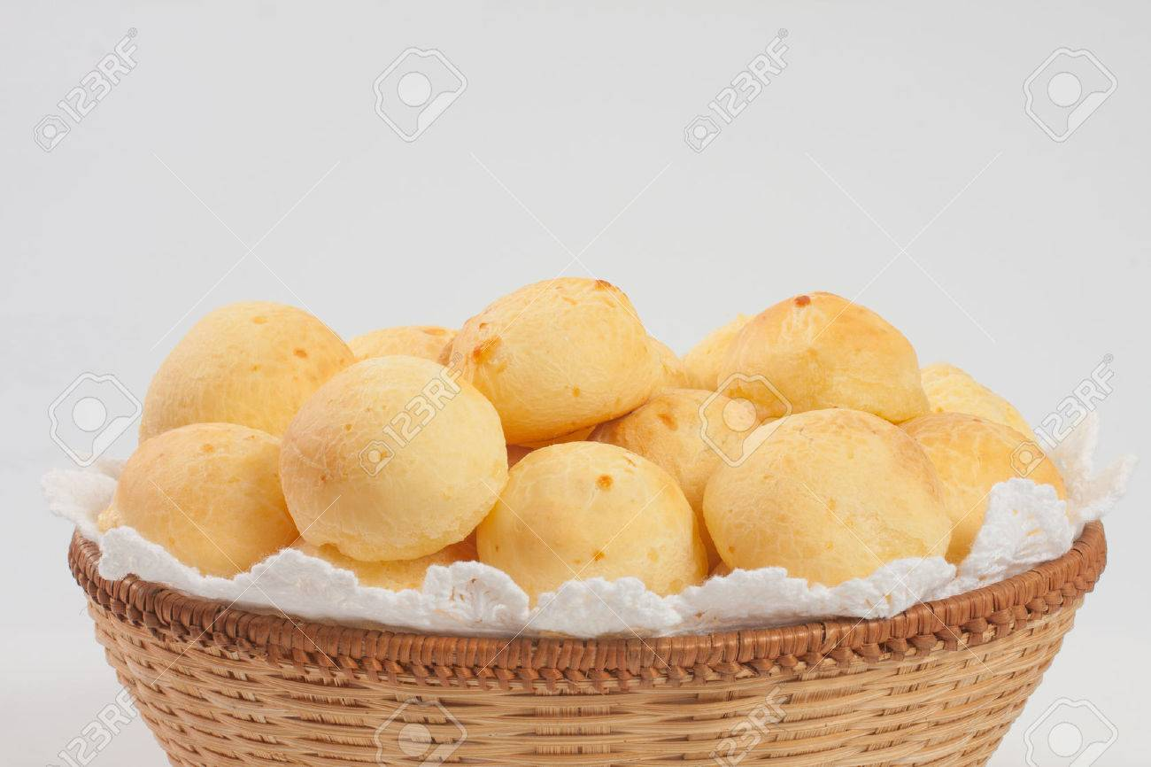 Traditional brazilian cheese bread on withe background - 55168722
