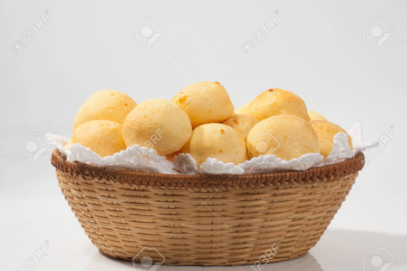 Traditional brazilian cheese bread on withe background - 55168942