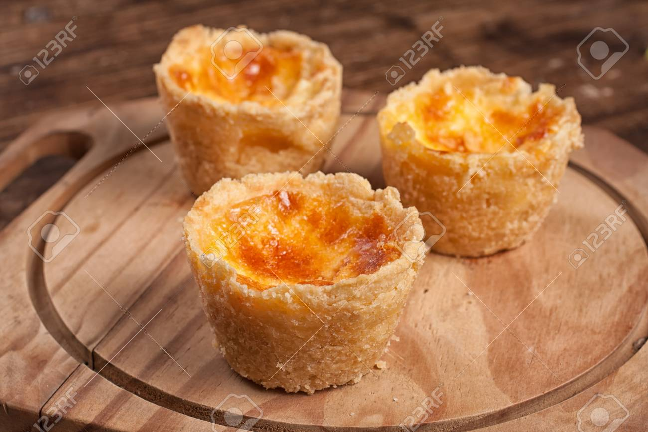 Portuguese Cheese Empadinhas over a wooden table