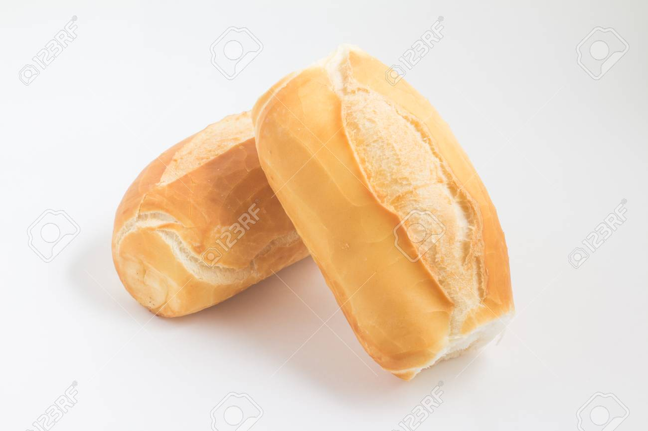french bread pao frances on white background stock photo picture