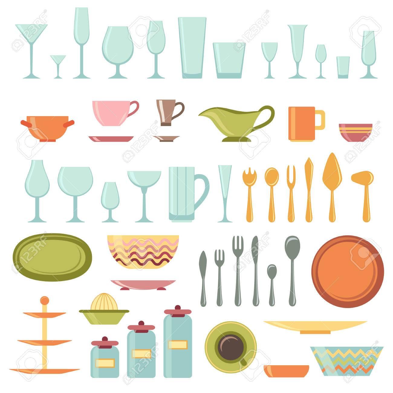 Küchenutensilien Und Kochgeschirr Symbole Gesetzt, Kochen Werkzeuge ...