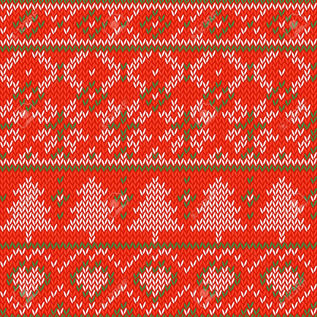 Knitted Christmas Background. Seamless Pattern. Nordic Background ...