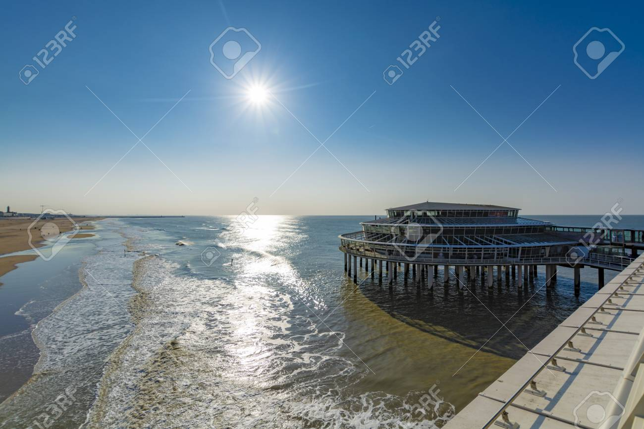 Sunny Day On North Sea Beach In Netherlands In Schegeningen Stock Photo Picture And Royalty Free Image Image 125632564